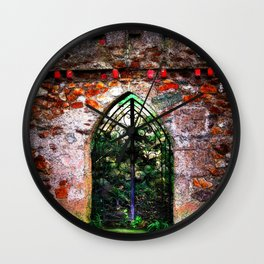 Ireland Dublin Door.  Secret Garden.  Irish Landscape Photography Wall Clock