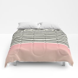 Blush x Stripes Comforters
