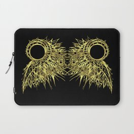 GOLDEN CURL - SHINING PAINTING ON BLACK BACKGROUND Laptop Sleeve