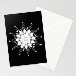Mandala music blanc Stationery Cards