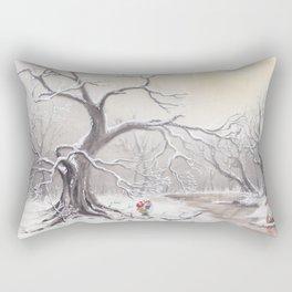 Gnome and fox Rectangular Pillow