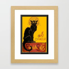 Le Chat D'Amour Greeting Card  Framed Art Print