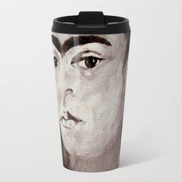 frida nd the monkey Travel Mug