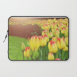 Yellow Red Tulips Laptop Sleeve