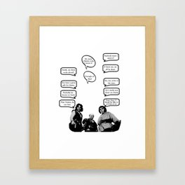 Princess Bride Peanut Rhyme Framed Art Print