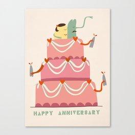 Happy Anniversary Canvas Print