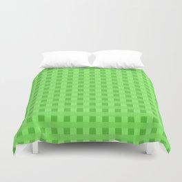 Lime Green Retro Squares Duvet Cover