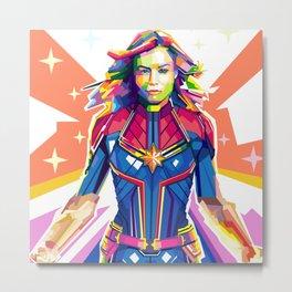 CaptainMarvel Pop Art Metal Print