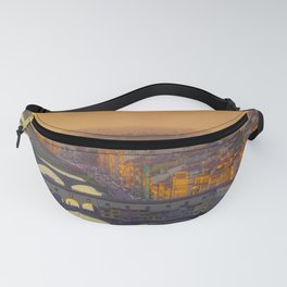 Florence Sunset over Ponte Vecchio Fanny Pack