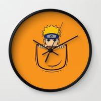 naruto Wall Clocks featuring Naruto pocket by Buby87