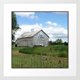 Ohio Bicentennial Barn - Wyandotte County, Ohio Art Print