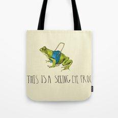 Seeing Eye Frog Tote Bag