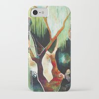 "flora bowley iPhone & iPod Cases featuring ""Temple Lilies"" Original Painting by Flora Bowley by Flora Bowley"