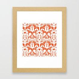Dala Horses Pattern Framed Art Print