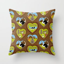 Welcome to the Mountains! Throw Pillow