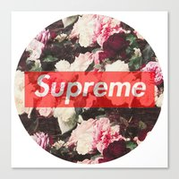 supreme Canvas Prints featuring Supreme Circle  by Massero Project