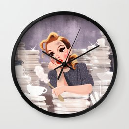 Look For The Silver Lining - Judy Garland Wall Clock