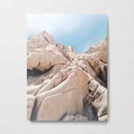 Lovers Beach Rocks Metal Print