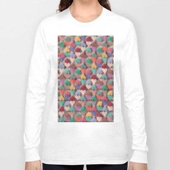 Colorful Love Pattern XI Long Sleeve T-shirt