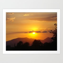 Smokey California Sunset Art Print