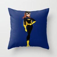 batgirl Throw Pillows featuring Batgirl by karla estrada