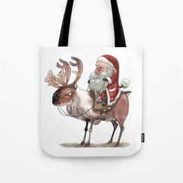 Père Noël Énervé / Angry Santa Tote Bag