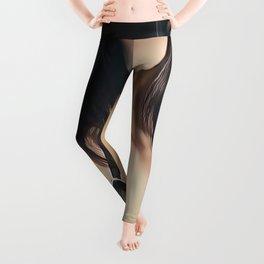 Emily Deschanel - Celebrity Art (Top Less - Open Art) Leggings