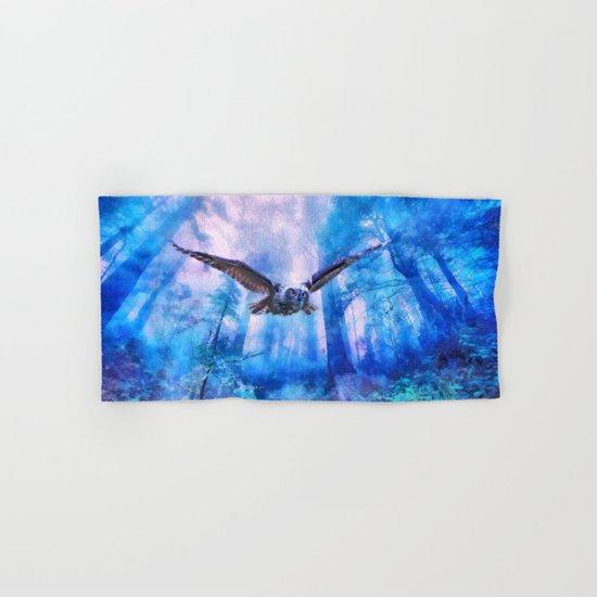 Owl flight Hand & Bath Towel