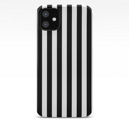 Large Black and White Cabana Stripe iPhone Case