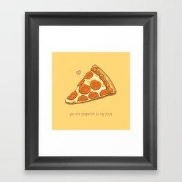 Pizza Valentine Framed Art Print