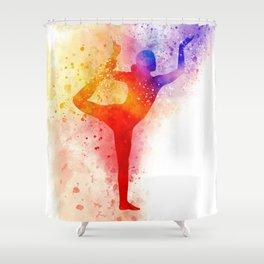 Yoga Art Shower Curtain