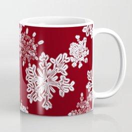 Snowflakes(red backgroud) Coffee Mug