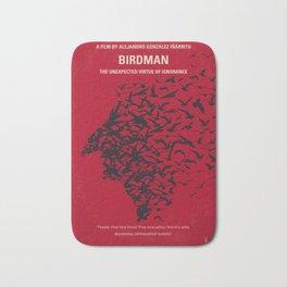 No604 My Birdman minimal movie poster Bath Mat