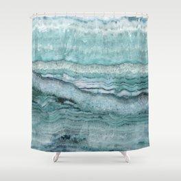 Mystic Stone Aqua Teal Shower Curtain