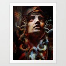 The last moments of Medusa Art Print