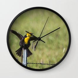Not Only Sings, But Dances Wall Clock