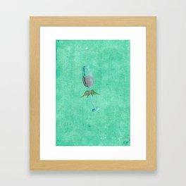 Wine Fairies 3 - Sparkling Rose Framed Art Print