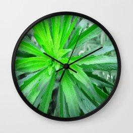 Burst in Green Wall Clock