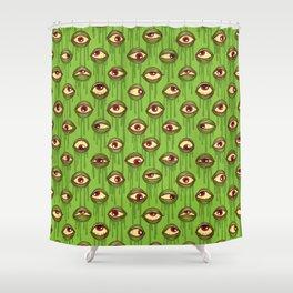 Slimy Eyeballs Shower Curtain