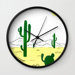 Man & Nature - The Desert Wall Clock