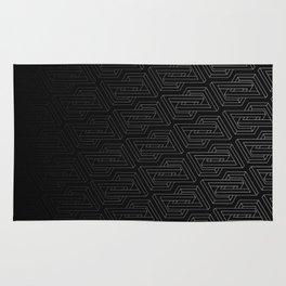 Optical illusion - Impossible Figure - Balck & White Pattern Rug
