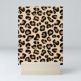 Leopard Print, Black, Brown, Rust and Tan Mini Art Print