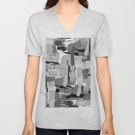 Black & White Hands Unisex V-Neck