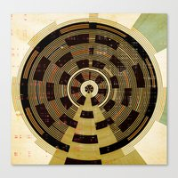 record Canvas Prints featuring Record by Tammy Kushnir