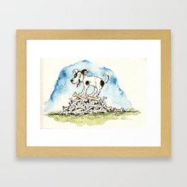 Happy puppy Framed Art Print
