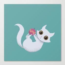Mischievous kitty Canvas Print