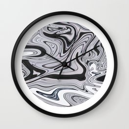 Minimal   Black & White Marble Wall Clock