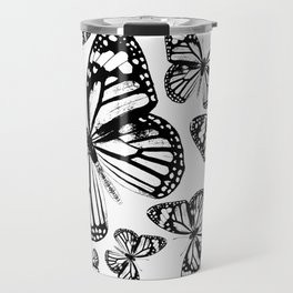 Monarch Butterflies | Monarch Butterfly | Vintage Butterflies | Butterfly Patterns | Black and White Travel Mug