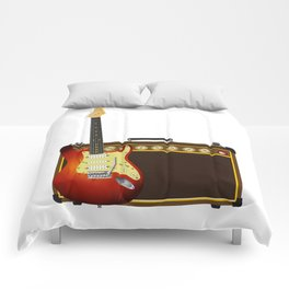 Guitar And Aplifier Comforters