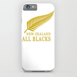 All Black NewZealand iPhone Case